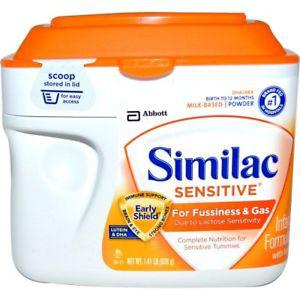 Similac, Sensitive, Infant Formula with Iron, Birth to 12