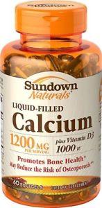 Sundown Naturals Calcium plus Vitamin D3 - 60 Softgels