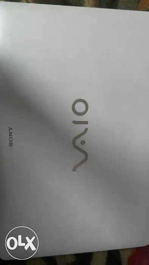 Almost new white Sony Vaio laptop