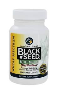 Amazing Herbs - Black Seed with GlyMordica Bitter Melon - 60