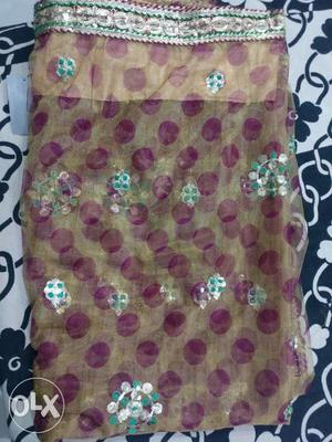 Georgette Net Saree (Party Wear) at Rs. 400