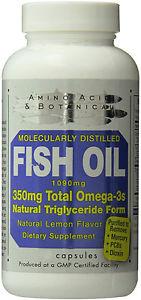 Fish Oil, Amino Acid & Botanical Supply, 120 capsule