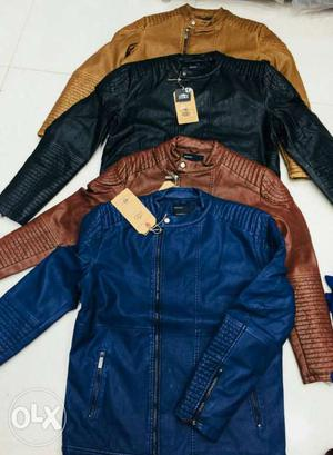 Mens leather jackets.