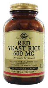 Solgar - Red Yeast Rice Vegetable Capsules 600 mg. - 120