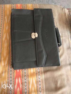 Black Leather Suit Case