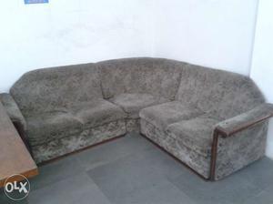 Expensive and antique Burma Teak Wood Sofa With Beautifu l