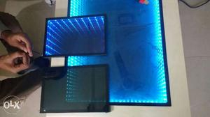 Illusion effect led glass for use in tables,