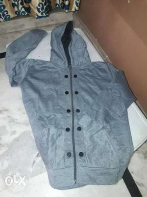 New grey color jacket fresh piece and fixed rate.