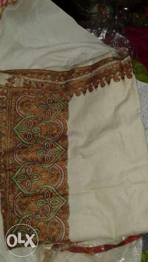 Pure pashmina shawls with fine kashmiri embroidery