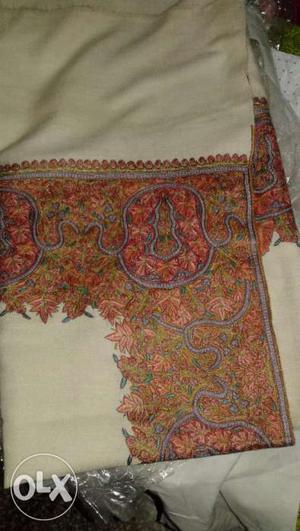 Pure pashmina shawls with fine kashmiri embroidery