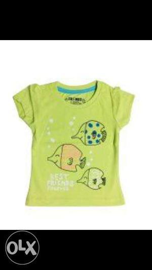 Sreca girl green fish top 0-3yr the exclusive top
