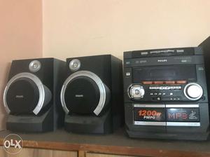 Black Philips Hi-Fi Stereo System