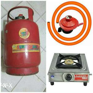 Gas cylinder +regulator+ pipe+ Stainless steel stove