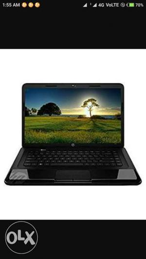 Hp  laptop with 4gb ram and 500gb hard disk