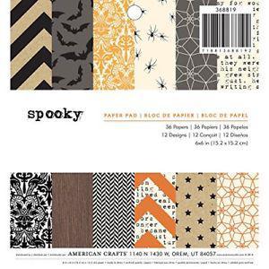 "American Crafts 6 X 6"" Paper Pad Halloween"