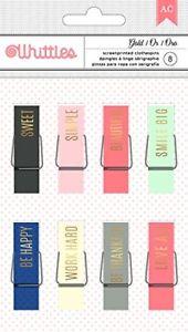 American Crafts Designer Desktop Clothespins Gold 8 Piece