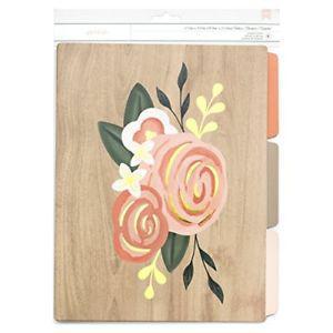 American Crafts Designer Desktop File Folders Rose 6 Piece