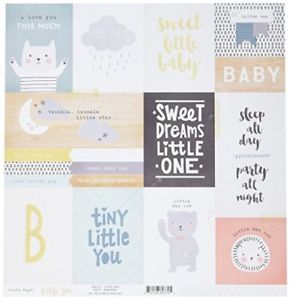 American Crafts  Little You Double-Sided Cardstock (25