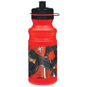 Amscan Black Ninja Birthday Party Sports Drink Bottle Favor,