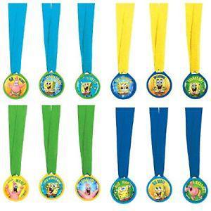 Amscan Superb SpongeBob Birthday Party Mini Award Medals,