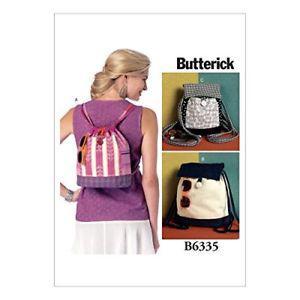 Butterick Patterns B Drawstring Backpacks In Three