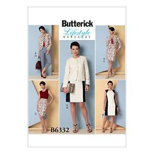 Butterick Patterns B Misses' Collarless Jacket, Dress,