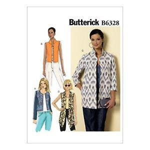 Butterick Patterns B Misses' Open-Front Jackets, Size F5
