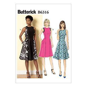 Butterick Patterns B Misses' Sleeveless Fit and Flare