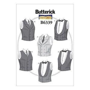 Butterick Patterns B Single or Double-Breaste d Vests,