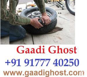 Doorstep Bike Car Puncture Repair in Hitech City Madhapur