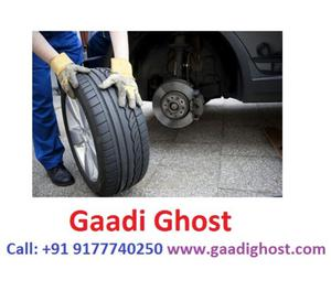 Onspot Tyre Puncture Repair in Hitech City Madhapur