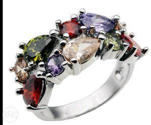 Silver With Diamonds Ring