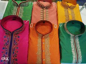 Six Assorted Color Traditional Dresses per pice