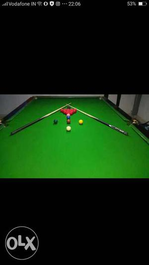 Two tables 5 by 10 snooker and 8 by 4 pool table