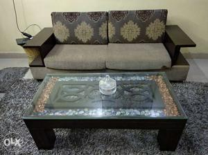 2 Piece Sofa Set With Table 2 years old in