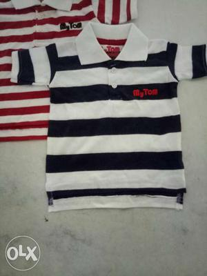 Baby polo t shirt single jersey 160 GSM yarn dyed