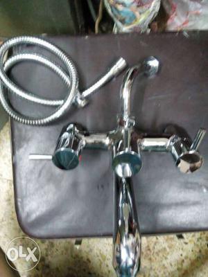 Grey Steel Faucet