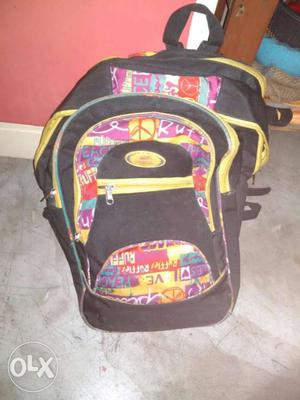 Yellow, Black, And Yellow Backpack