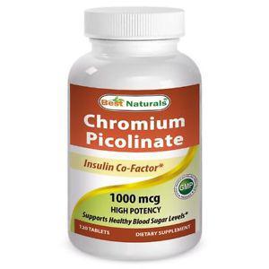 Best Naturals Chromium Picolinate  mcg 120 Tablets Exp