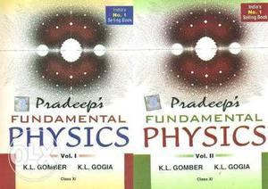 Class 11th and 12th physics Pradeep part 1 & 2