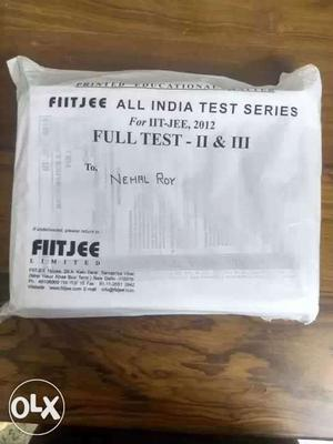 FIITJEE All India Test Series Exam Papers