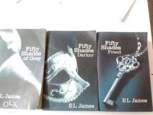 Fifty Shades Of Grey, Darker, And Freed Book Series