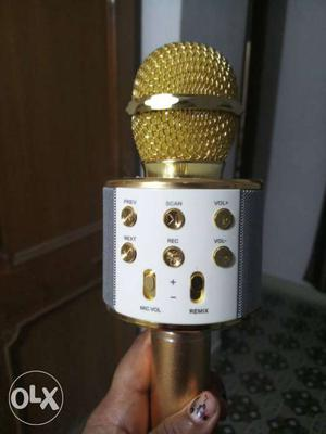 White And Yellow Wireless Microphone