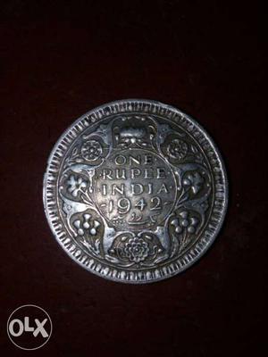 India 1 rupees coin 10 cram