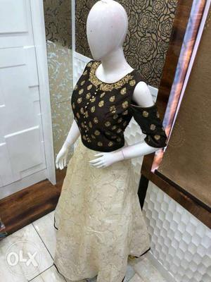 Beautiful party wear cold shoulder gown... many