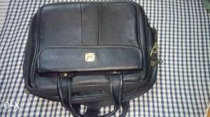 Brand New Black color Executive Leather Bag with Three