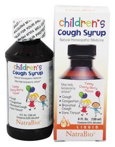 NatraBio - Cough Syrup Childrens Cherry Berry - 4 oz.
