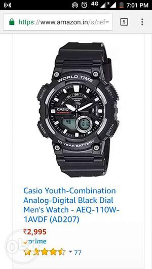 New Casio sports watch for men with 2 year