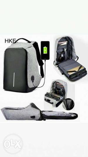 New multi function bag with USB charging with