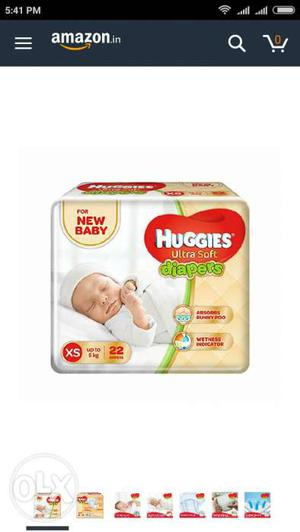 Baby's Small Size Huggies Soft Extra Diaper Pack